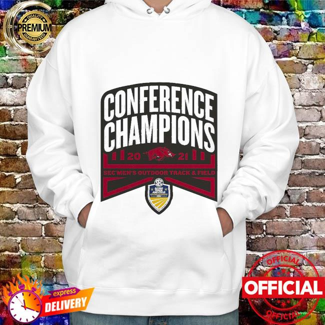 Arkansas Razorbacks conference champions 2021 sec men's outdoor track and field hoodie