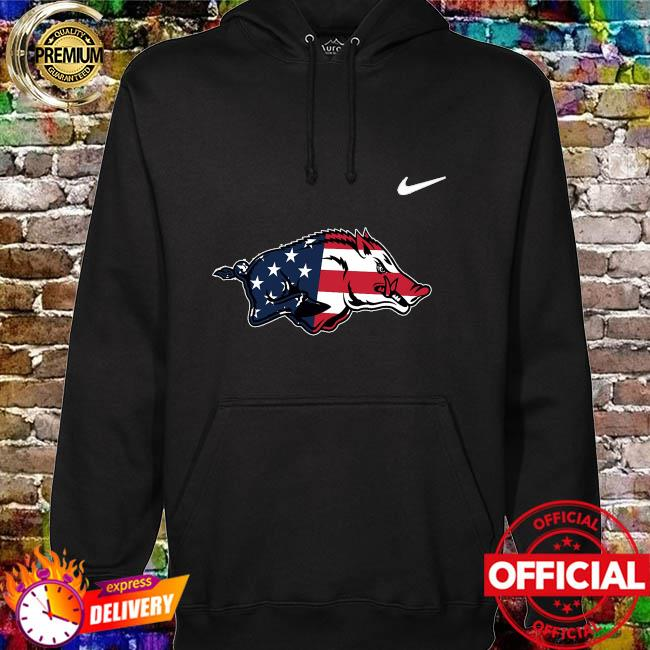 ArKansas razorbacks legend American flag hoodie