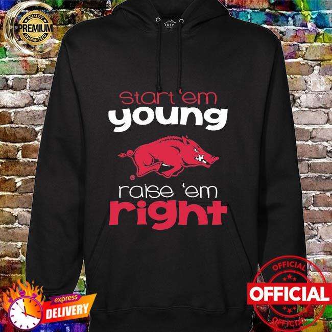 ArKansas Razorbacks Toddler start em young hoodie