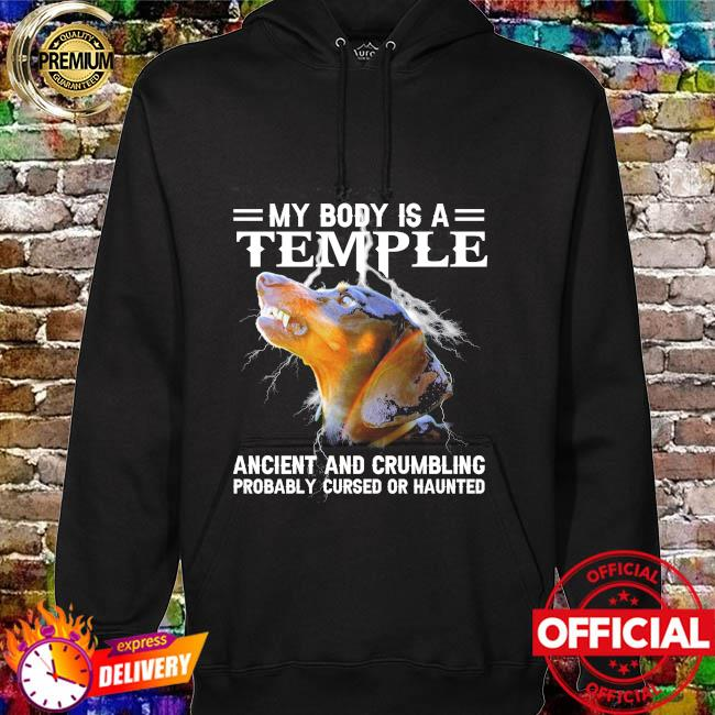 Dachshund my body is a temple ancient and crumbling hoodie