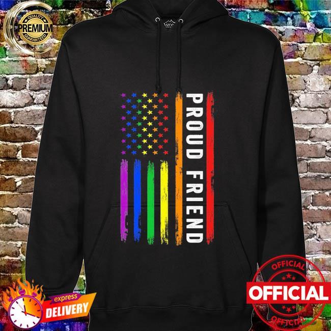 Lgbt proud friend rainbow American flag hoodie