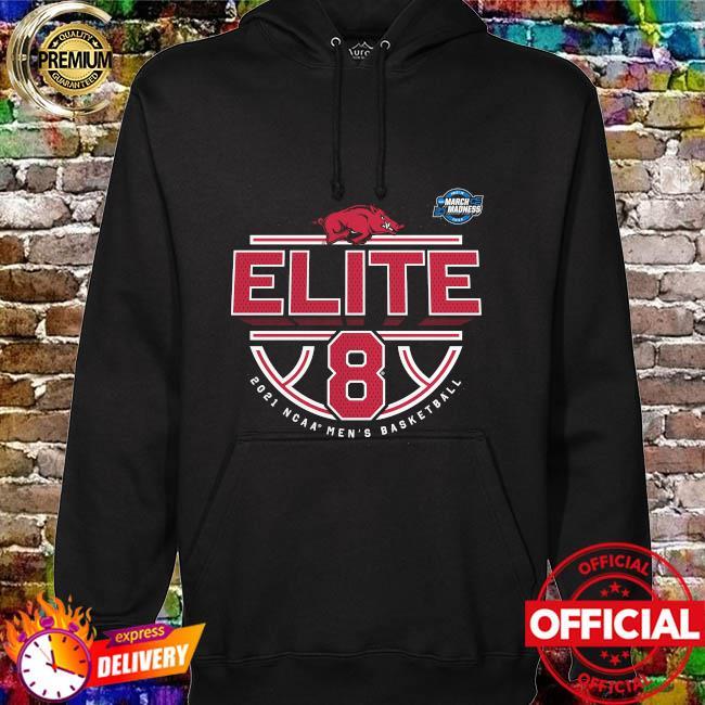 Official arKansas razorbacks 2021 ncaa men's basketball tournament march madness elite 8 bound tri-blend hoodie