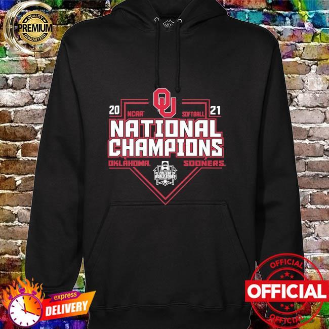 Oklahoma sooners blue 84 2021 ncaa softball women's college world series champions schedule hoodie