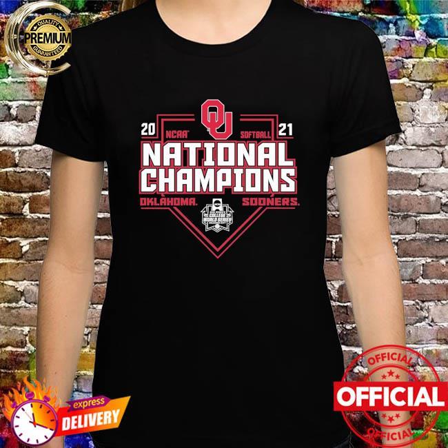 Oklahoma sooners blue 84 2021 ncaa softball women's college world series champions schedule shirt