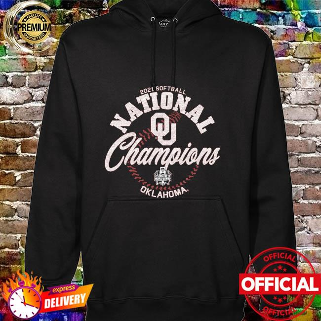 Oklahoma Sooners Blue 84 2021 ncaa softball women's college world series champions hoodie
