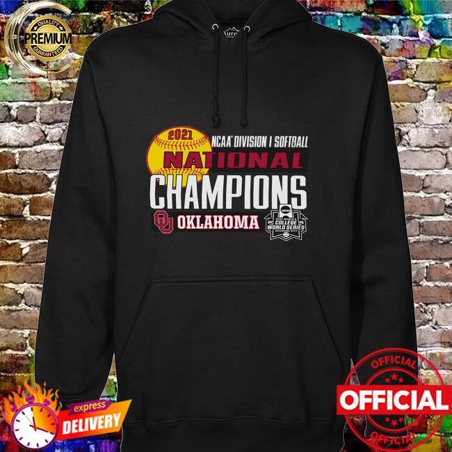 Oklahoma sooners women's 2021 ncaa softball women's college world series champions locker room hoodie