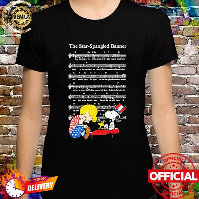 The star-spangled banner snoopy independence day 4th of july shirt