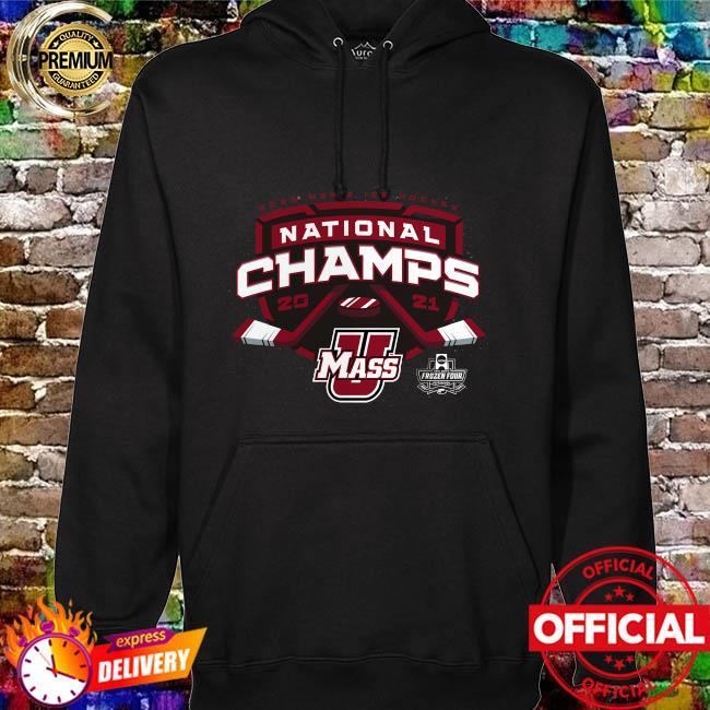 Umass minutemen 2021 ncaa men's ice hockey national champions hoodie