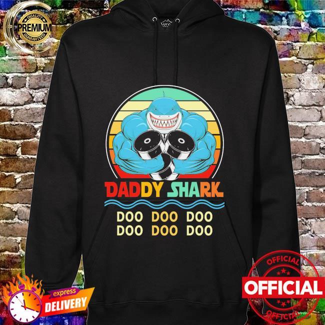 Daddy shark doo doo doo vintage hoodie