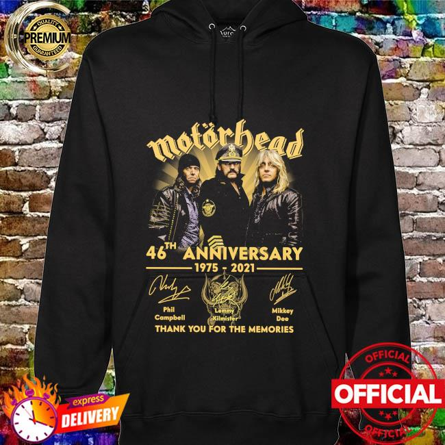 Motor Bead 46th anniversary 1975 2021 thank you for the memories signatures hoodie