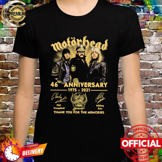 Motor Bead 46th anniversary 1975 2021 thank you for the memories signatures shirt