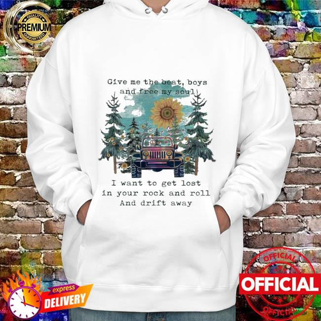 Sunflower and Jeep give me the beat boys and free my son hoodie