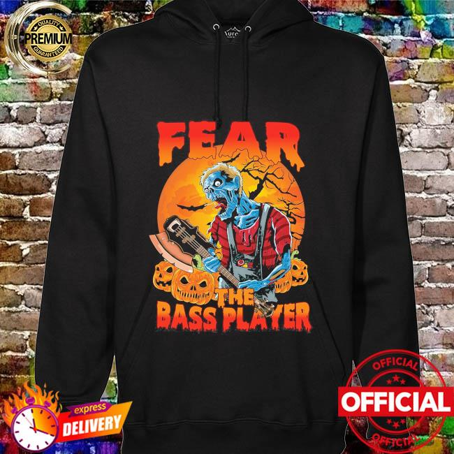 Fear the bass player Zombie Halloween Moon hoodie
