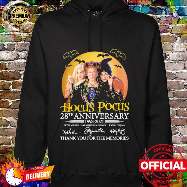 Hocus Pocus 28th anniversary 1993 2021 thank you for the memories signatures hoodie