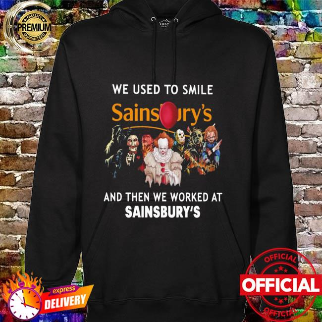 Horror Movie Chibi Characters We Used To Smile And Then We Worked At Sainsbury's Logo Shirt hoodie