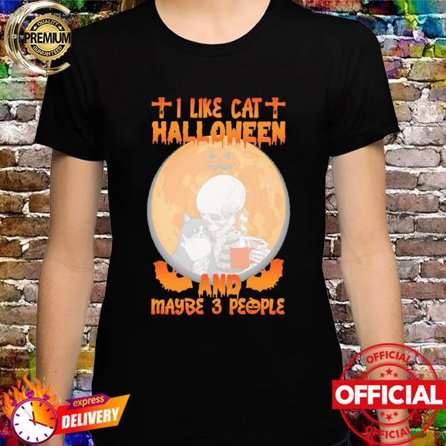 I like cat Halloween and maybe 3 people Halloween Moon shirt