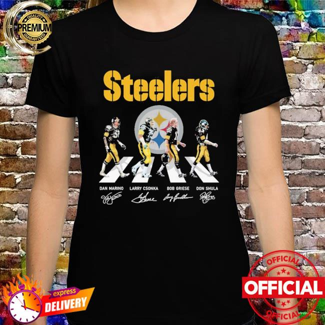 Pittsburgh Steelers Abbey Road signatures shirt